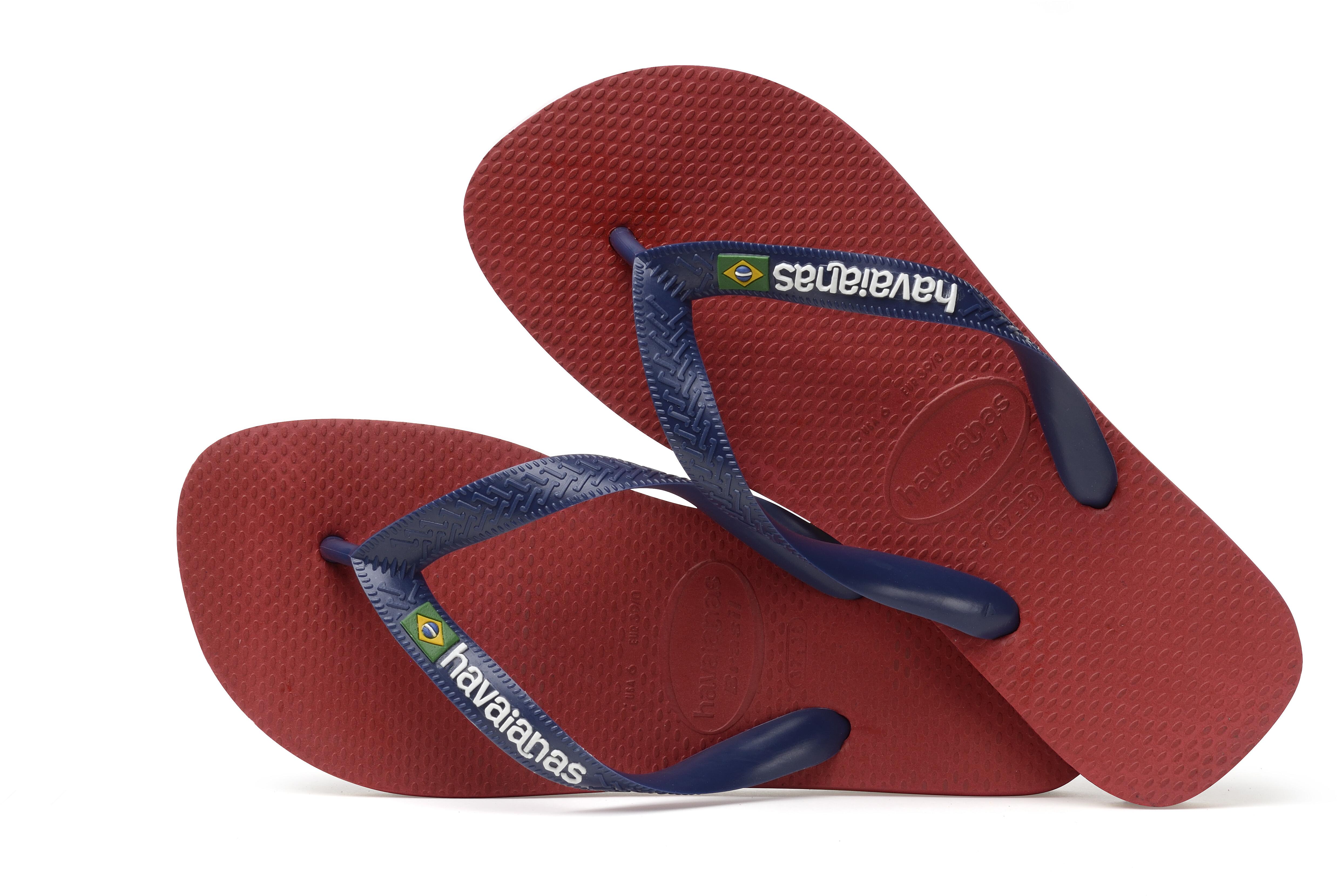 pre-order prijs verlaagd presenteren havaianas Brasil Logo Sandalen Heren rood